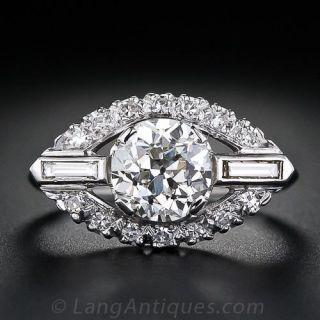 1.52 Carat Mid-Century Diamond Engagement Ring - GIA - 1