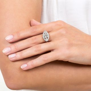 1.52 Carat Mid-Century Diamond Engagement Ring - GIA