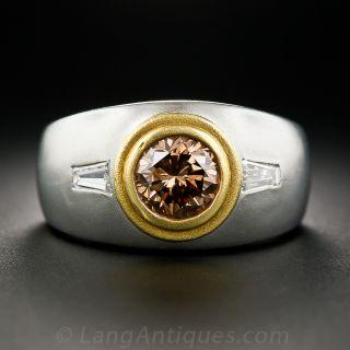 1.55 Carat Natural Cognac Diamond Gent's Ring