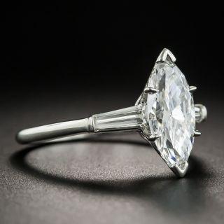 1.58 Carat Marquise Diamond Platinum Engagement Ring - GIA D SI2
