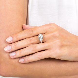 1.72 Carat Art Deco Platinum Diamond Ring
