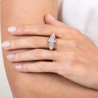 1.80 Carat Art Deco Diamond Ring in Platinum