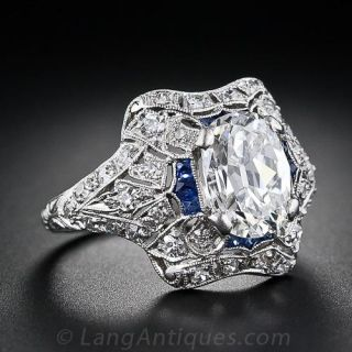 1.98 Carat Edwardian Diamond Engagement Ring