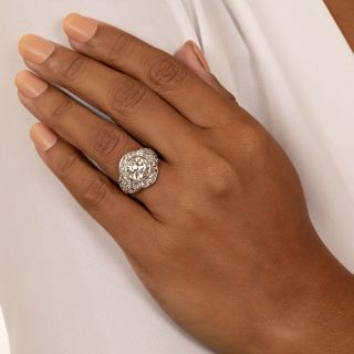 Art Deco 2.77 Carat Diamond Engagement Ring - GIA