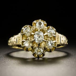 Victorian Old Mine-Cut Diamond Cluster Ring - 1