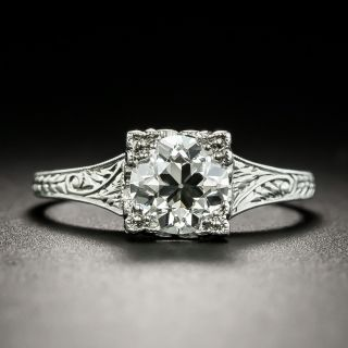 Art Deco 1.08 Carat Diamond Solitaire Engagement Ring - GIA I VS1 - 1