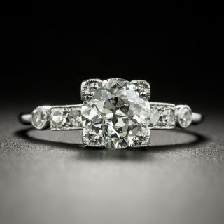 Art Deco 1.09 Carat Diamond Engagement Ring - GIA J VVS2 - 1