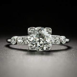 Art Deco 1.09 Carat Diamond Engagement Ring - GIA J VVS2 - 1