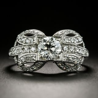 Art Deco .79 Carat Diamond Engagement Ring - GIA E VS2 - 1