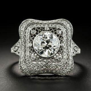 Fine Edwardian 1.27 Carat Diamond Ring - GIA J VS2 - 2