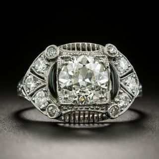 Art Deco 1.39 Carat Diamond Engagement Ring - 2