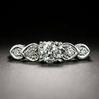 Mid-Century .50 Carat Diamond Engagement Ring - 2