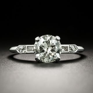 Art Deco 1.22 Carat Diamond Engagement Ring - GIA K SI1 - 1