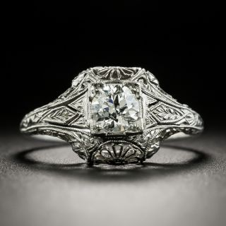 Art Deco .48 Carat Diamond Engagement Ring by Katz & Ogush - 1