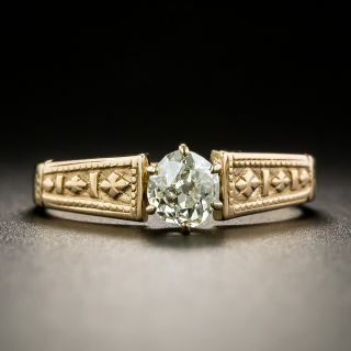 Victorian .38 Carat Diamond Solitaire Ring - 1