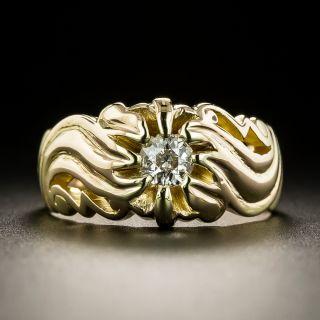 Art Nouveau .25 Carat Diamond Ring - 1