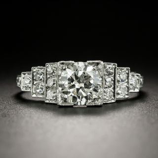 Art Deco .91 Carat Diamond Engagement Ring by Tenen Brothers - GIA - H VVS1  - 1