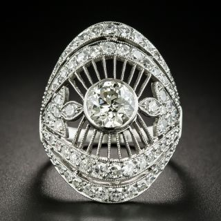 Art Deco 1.45 Carat Center Diamond Dinner Ring - 1