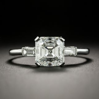 Mid-Century 2.01 Carat Asscher-Cut Diamond Engagement Ring - GIA G SI2 - 1