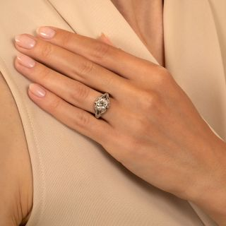 Art Deco 1.21 Carat Diamond Engagement Ring - GIA K VS2
