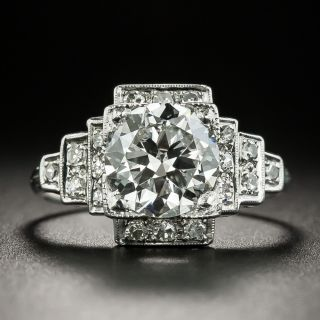 Art Deco 1.78 Carat Diamond Engagement Ring - GIA I VS2 - 2