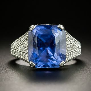 10.29 Carat Color-Change Sapphire Ring