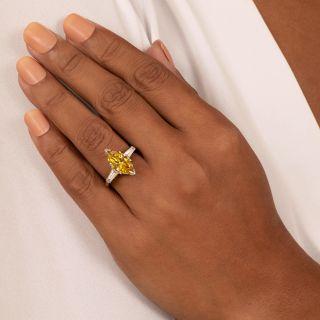 2.89 Carat Enhanced Yellow MarquiseDiamond Ring