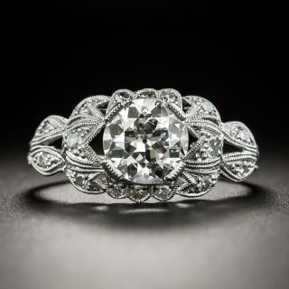 Art Deco 1.32 Carat Diamond Engagement Ring - GIA H SI2 - 2