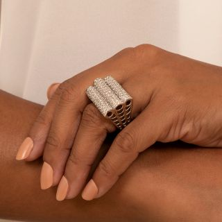 Large Pavé Diamond Ring