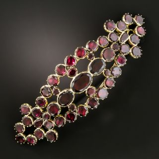 Antique Garnet Barrette - 4