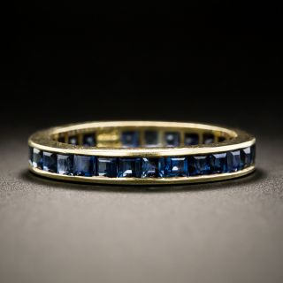 Square Sapphire Eternity Band - Size 6 - 2