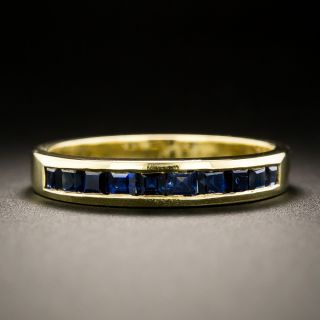 Estate Sapphire Wedding Band - 2
