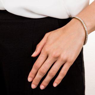 13.00 Carat Princess-Cut Diamond Bracelet
