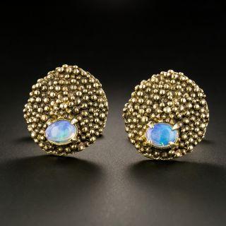 Brutalist Opal Cufflinks, Circa 1960s - 2