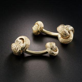 14K Barbell Style Cufflinks