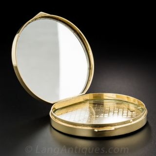 14K Round Gold Compact