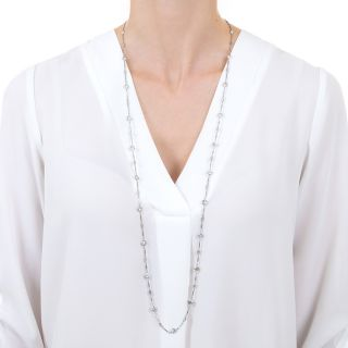 15.50 Carat Diamonds By the Yard 36 Inch Necklace
