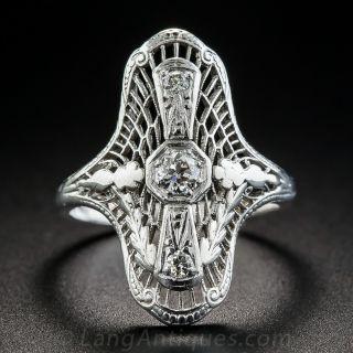 18K Art Deco Diamond Dinner Ring