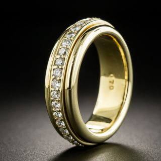 18K Diamond Spinning Eternity Band - Size 6+ - 1