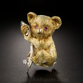18k Koala Bear Pin - 1