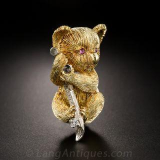 18k Koala Bear Pin