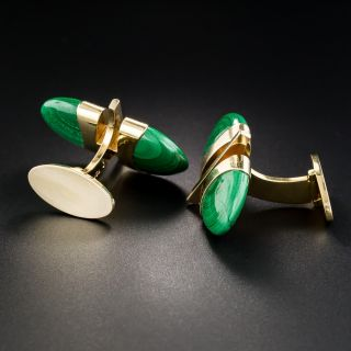 18K Malachite Cufflinks by George Jensen & Wendel - Sweden