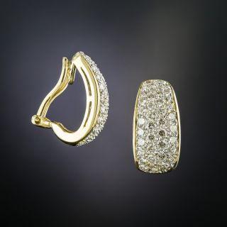 18K Pavé Diamond Clip Earrings