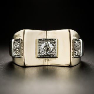 18K Retro Diamond Ring - 1