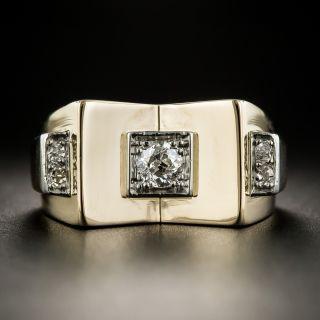 18K Retro Diamond Ring - 1