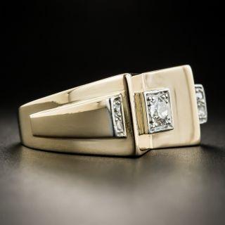 18K Retro Diamond Ring