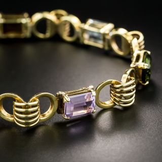 18K Retro Multi-Gem Bracelet