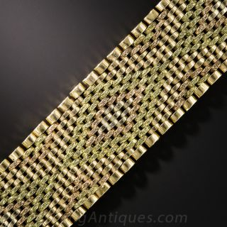 18K Tri-Color Gold Mesh Bracelet