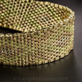 18K Tri-Color Gold Mesh Bracelet - 3
