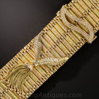18K Two-Tone Gold Fringe Bracelet - 1